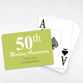 Jumbo Index Anniversary Landscape Playing Cards