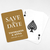 Personalized Save the Date Playing Cards