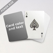 Classic Choice - Poker With Custom Message
