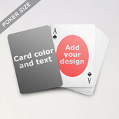Ovate Personalized Both Sides Playing Cards