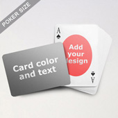 Ovate Personalized Both Sides Landscape Back Playing Cards