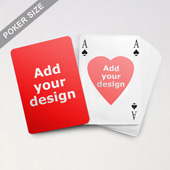 Heart-to-Heart Series – Custom Front and Back Playing Cards in Bridge Style