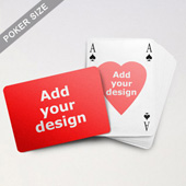 Heart-to-Heart Series – Custom Front and Back Playing Cards in Bridge Style (Landscape)