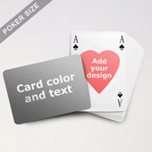 Heart-to-Heart Series – Custom Back Playing Cards in Bridge Style (Landscape)