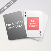 Centre Portrait Photo Personalized Both Sides Playing Cards