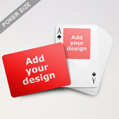Top Portrait Photo Custom Front and Landscape Back Playing Cards
