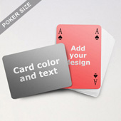 Simple Bridge Style Poker Size Personalized Both Sides Landscape Back Playing Cards