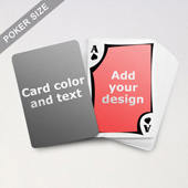 Modern Personalized Both Sides Playing Cards