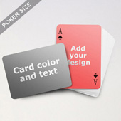 Simple Personalized Both Sides Landscape Back Playing Cards