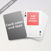 Top Portrait Photo Personalized Both Sides Playing Cards