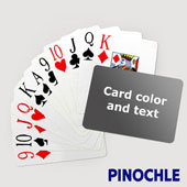 Pinochle with Personalized Message - Jumbo Index - Landscape