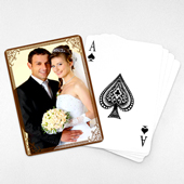 Wedding Photo Playing Cards – Cocoa Vintage