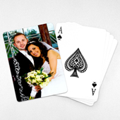 Wedding Photo Playing Cards – Snowy White