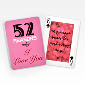 Make Own 52 Love Messages Poker Cards
