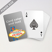 Las Vegas Sign Personalized Playing Cards