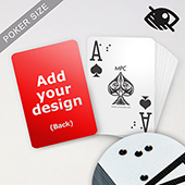 Custom Braille Playing Cards LED UV Embossed