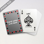 Timeless Frame - Poker With Custom Message & Jumbo Index