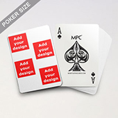 4 Photo Collage Back Custom MPC Poker Cards