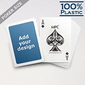 White Border Custom Plastic Poker Cards