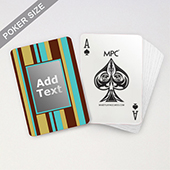 Custom MPC Stripe Monogram Playing Cards