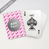 Personalized Pink Zig Zag Monogrammed Playing Cards