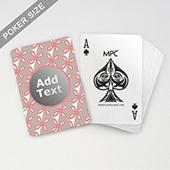 Custom Printed Monogram Playing Cards