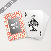 Abstract Pattern Orange Monogram Playing Cards