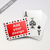 Custom Poker Cards With Jumbo Index and 4 Pips Border (Landscape Back)