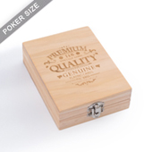 Custom Wooden box for Single deck - Engrave