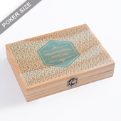 Custom Wooden box for Double deck - UV printing