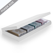 Plain White Four Deck Presentation Box