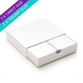 Plain tray box-for 2 deck tarot size card