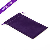 Purple velvet bag