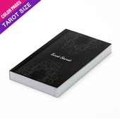 Custom tarot size perfect bound booklet with colored pages (up to 168 pages)
