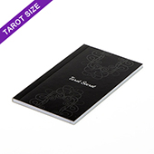 Custom tarot size perfect bound booklet with black and white pages (up to 72 pages)