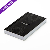 Custom tarot size perfect bound booklet with black and white pages (up to 168 pages)