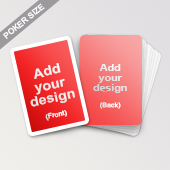 Custom White Border Playing Cards Poker size
