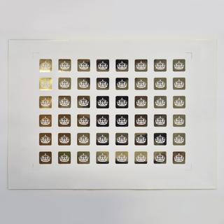 48 gold foil seals