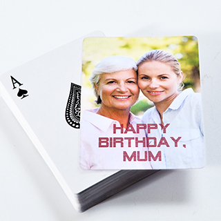 Personalized Birthday Playing Cards View Sample