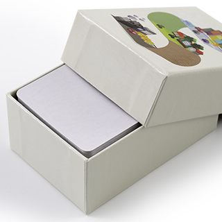 Custom rigid box for 60 business size cards reheart