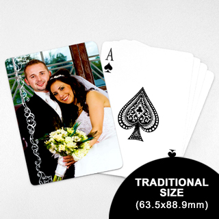 Wedding Photo Playing Cards – Snowy White (63.5 x 88.9mm)