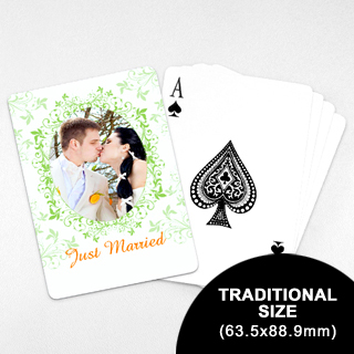 Wedding Photo Playing Cards – Refreshing Green (63.5 x 88.9mm)