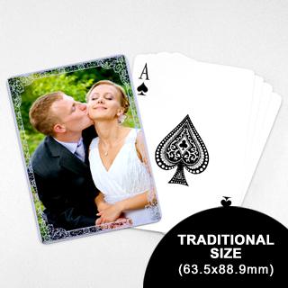 Wedding Photo Playing Cards – Purple Charm (63.5 x 88.9mm)