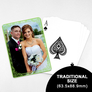 Wedding Photo Playing Cards – Green Antique (63.5 x 88.9mm)