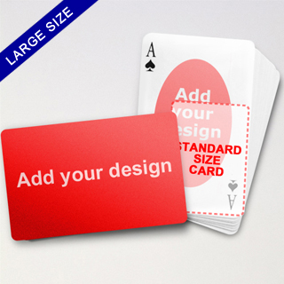 Large Playing Cards Series – Double Face Oval Back Poker (Landscape)