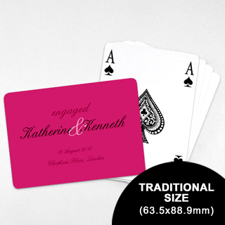 Wedding Invitation - Classic Playing Cards (Landscape) (63.5 x 88.9mm)