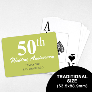 Save the Date – Playing Cards with Jumbo Index (Landscape) (63.5 x 88.9mm)