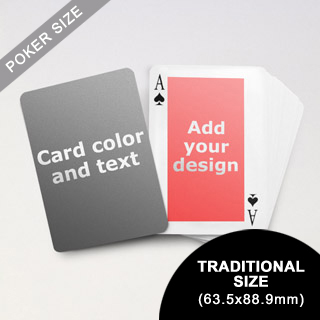 Classic Personalized Both Sides Playing Cards (63.5 x 88.9mm)