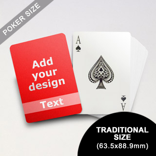 Classic Personalized Photo Playing Cards (63.5 x 88.9mm)