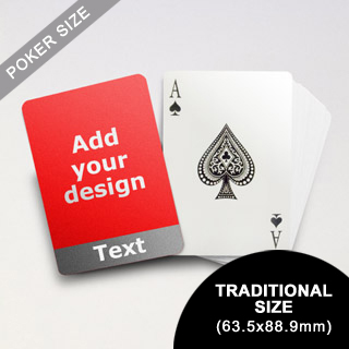 Cool Grey Personalized Photo Playing Cards (63.5 x 88.9mm)